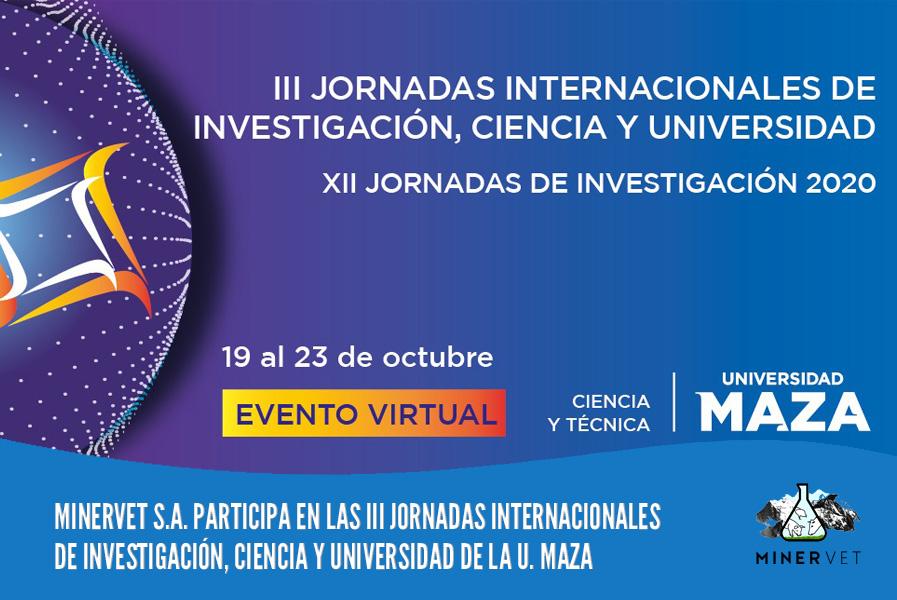 MINERVET S.A. auspicia y participa en las III Jornadas Internacionales de Investigación, Ciencia y Universidad de la Universidad Juan Agustín Maza