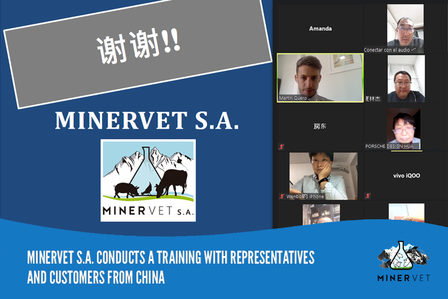 MINERVET S.A. conducts a training with representatives and customers in China